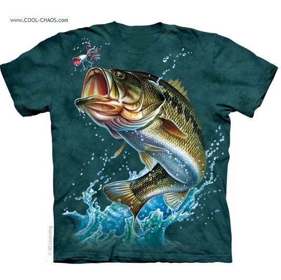 Bass Fishing T-Shirt Fish,Bass,Fishing,Pacific NW,Largemouth Bass Art Tshirt