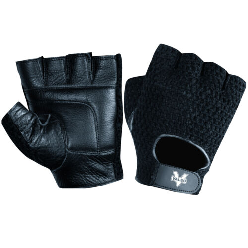 Valeo Leather Mesh Back Weight Lifting Gloves