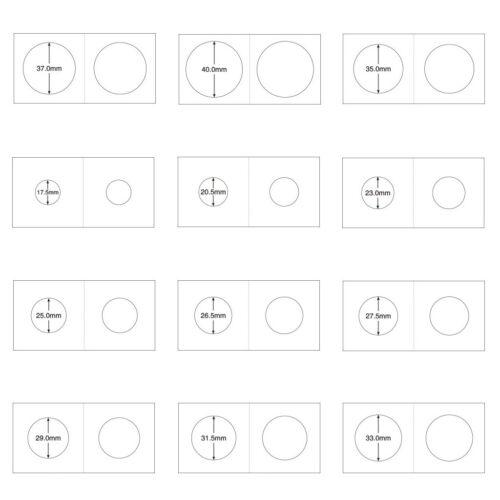 50Pcs 2x2 Cardboard Coin Holders Flips Mylar Coin Supplies 40mm