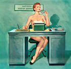 Vintage Pin Up  Secretary Art 12 x 12