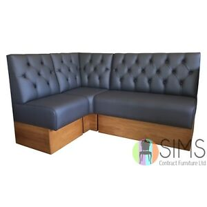 Image Is Loading Modular Deep Buttoned Banquette Fitted Bench Booth Seating