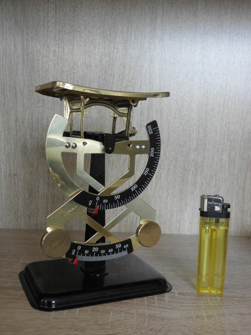 Art deco old desk LETTER SCALES vintage Brass scale Letter bauhaus balance
