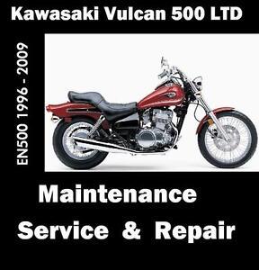 kawasaki 500 ltd vulcan en500 workshop maintenance service repair rh ebay com 2009 kawasaki vulcan 500 ltd owners manual Kawasaki Vulcan 500 Horsepower