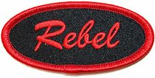 """Red """"Rebel"""" Name Tag Resist Rise Up & Revolt Embroidered Iron On Applique Patch"""