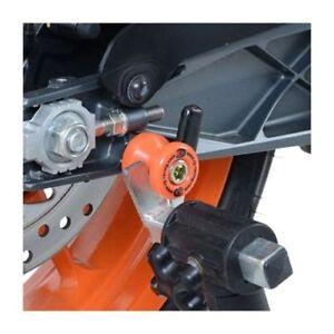 R-amp-G-Orange-Cotton-Reels-Paddock-Stand-Bobbins-for-Triumph-Street-Triple-675