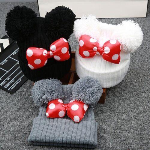 Cute Toddler Kids Girl Boy Baby Children Hat Winter Warm Knitted Caps