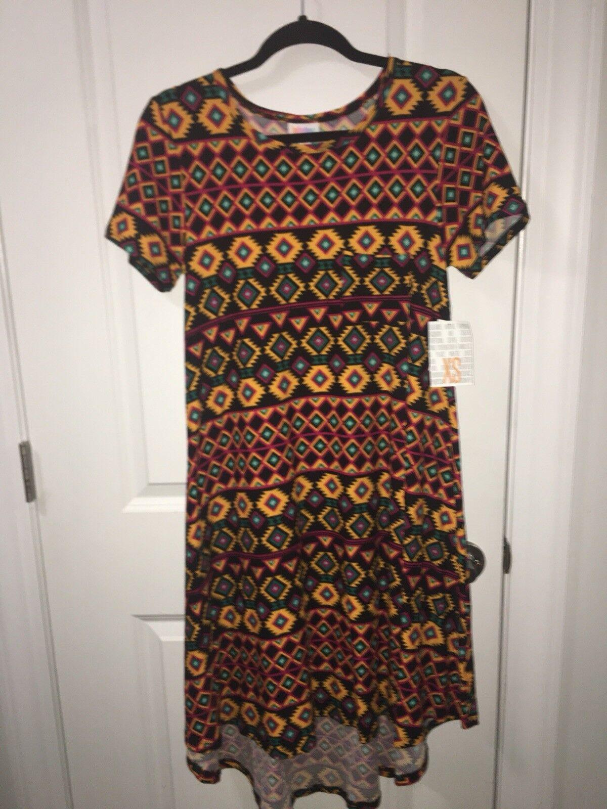 Lularoe XS Carly Dress Multicolor Aztec Leggings Material Super Soft