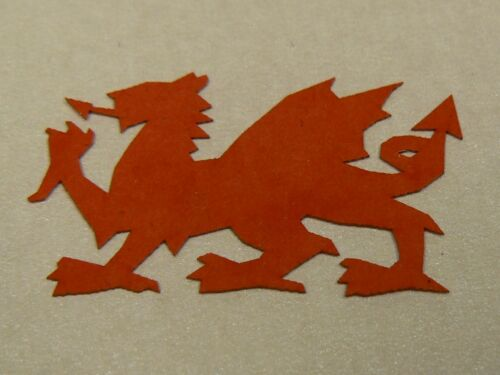 Red dragon gallois die cut out shape 25mm largeur-sac de 50-décorations de table