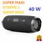 miniatura 1 - CASSA BLUETOOTH PORTATILE USB MP3 SPEAKER SMARTPHONE MUSICA VIVAVOCE 40 W RMS