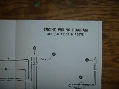 Bobcat 310 Engine Electrical Wiring Diagram Schematic ...