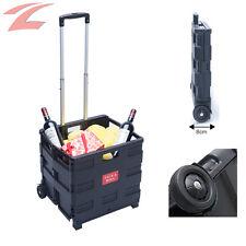 Einkaufstrolley, Handwagen, Einkaufswagen, Schwarz, 45L 35KG, Roller, Klappbar