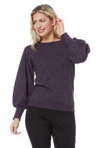 94516eafb3600 Roman Originals Women Bell Sleeve Jumper in Purple Sizes 10 - 20 ...