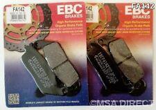 KAWASAKI Z750 (de 2007 a 2011) EBC Kevlar Pastillas De Freno Delantero (FA142) (2 Juegos)