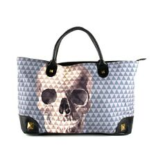 Loungefly - Shopper Tasche Skull with Pyramid (Blau)