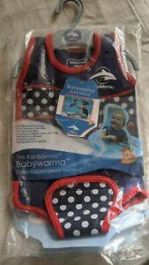 BNWT Konfidence Babywarma Baby Wetsuit - Navy Polka Dot 6-12 Months 16-26lbs