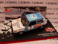 voiture 1/43 IXO altaya Rallye Monte Carlo VOLKSWAGEN GOLF GTI 1987