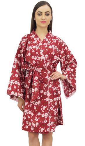Bimba Baumwolle Popeline Floral Bedruckte Kimono Robe Brautjungfer Vertuschen