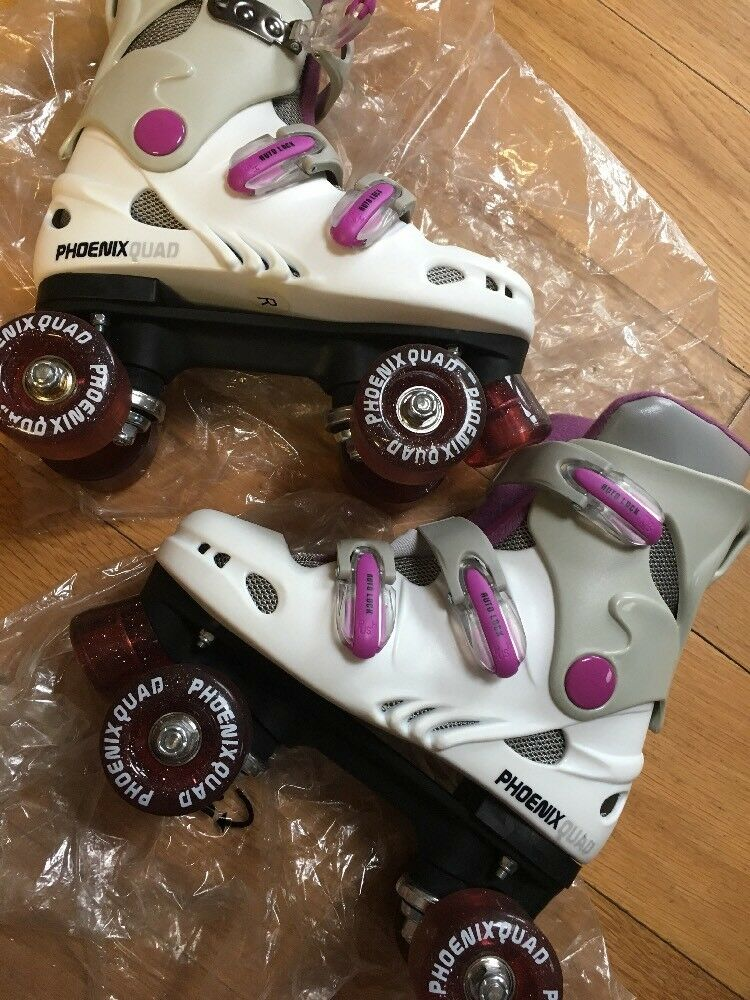Ladies Phoenix Quad Purple Roller Boots Size 3