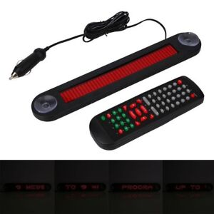 Car-Red-LED-Programmable-Message-Sign-Scrolling-Display-Board-Remote-Control-N
