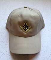 Masonic Blue Lodge Embroidered Cap In Khaki