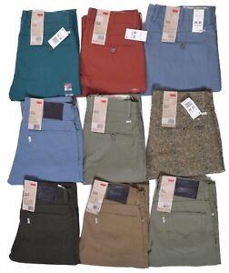 Levis Jeans 513 Para Hombre Calce Ajustado Recto Pantalones Pantalon Elegir Tamano Y Color Ebay