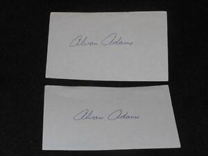 Oaklahoma Phoenix Suns Alvan Adams Signed 3x5 Autograph Index Card  TOUGH  H14
