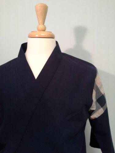 Happi coat sushi coat Special Material serving coat Navy Shoulder Cotton P.