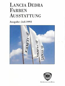 Sammeln & Seltenes Kataloge & Prospekte Lancia Dedra Prospekt Farben Ausstattung 7/93 1993 Brochure Auto Broschüre Heft