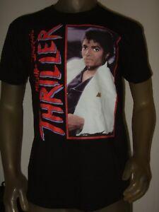 New-Men-039-s-M-XXL-Black-Michael-Jackson-Thriller-Album-Cover-POP-Music-Band-Shirt