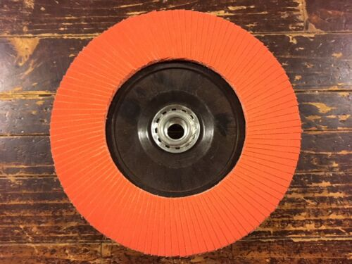 Norton Blaze 7x5//8-11 120 Grit Ceramic Quick Trim Flap Disc
