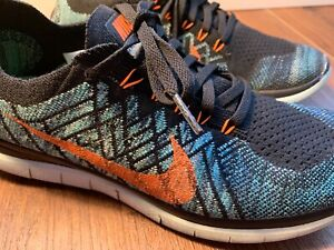 finest selection d7292 c5347 Details about Running Shoes NIKE Free 4.0 Flyknit Orange & Blue,  Orange/Hyper Jade Men's 9.5