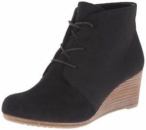 Dr-Scholl-039-s-Womens-Dakota-Fabric-Closed-Toe-Ankle-Black-Microfiber-Size-9-5-a