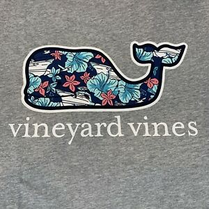 Vineyard-Vines-Mens-Pocket-S-S-Gray-T-Shirt-Tropical-Boats-Whale-Fill-Sz-XL-NEW