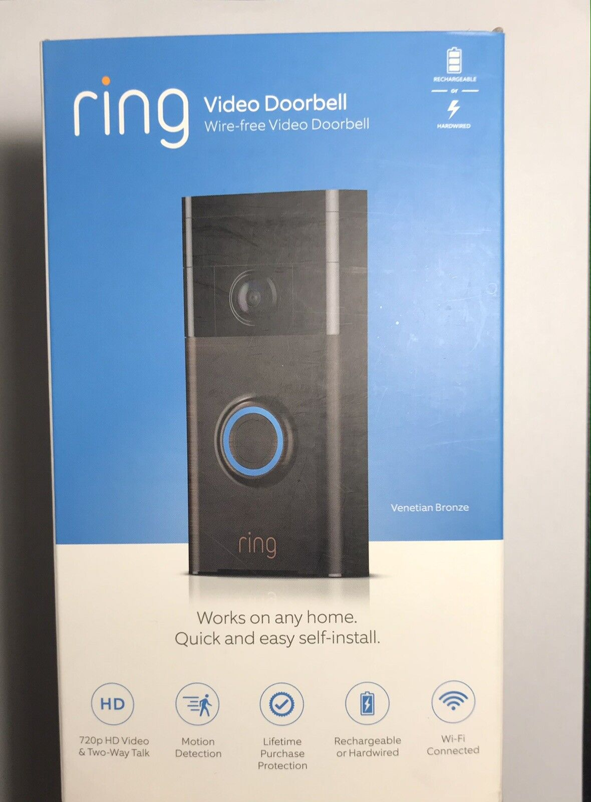 Ring Video Doorbell WiFi Enabled Smart Security Cam Bronze Motion Activated