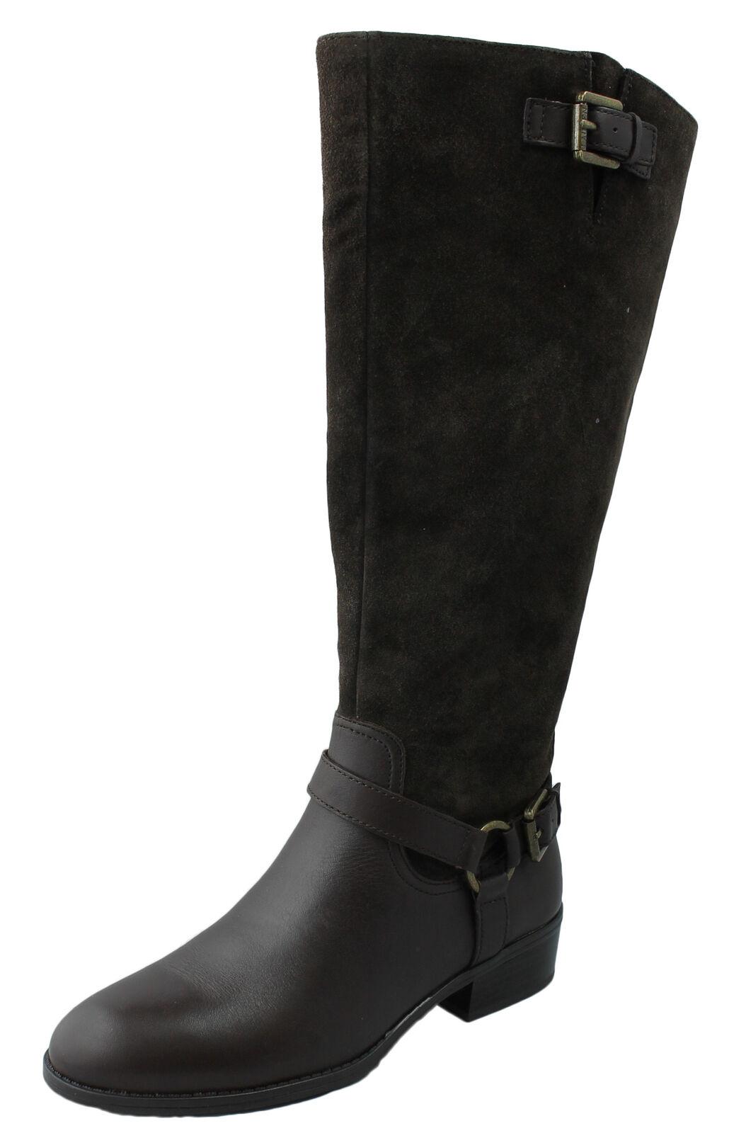 Lauren Ralph Lauren Zapatos para mujer Bota Marrón Oscuro McLeod Ret  Nuevo