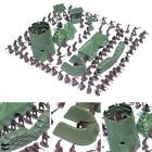 100pcs- Army Men Toy Soldiers Military Gray Green Plastic Figurine Action Figure