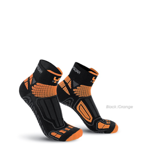 CALZE DA RUNNING UNISEX OXYBURN 1260 LEVITATE SHORT CUT black orange