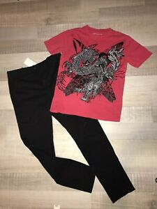 LOT-N-38-VETEMENTS-GARCON-14-ANS-T-SHIRT-Gemo-Pantalon-Noir-H-amp-M-TBE