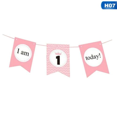 I am 1 Today Baby Birthday Banner Flag Photo Prop The First Birthday Party Decor