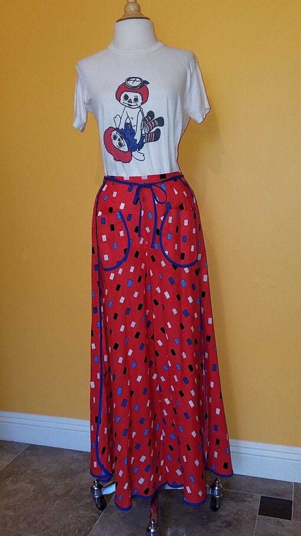 NWT Marimekka Red Wrap Around Trousers Pants Women Size XS