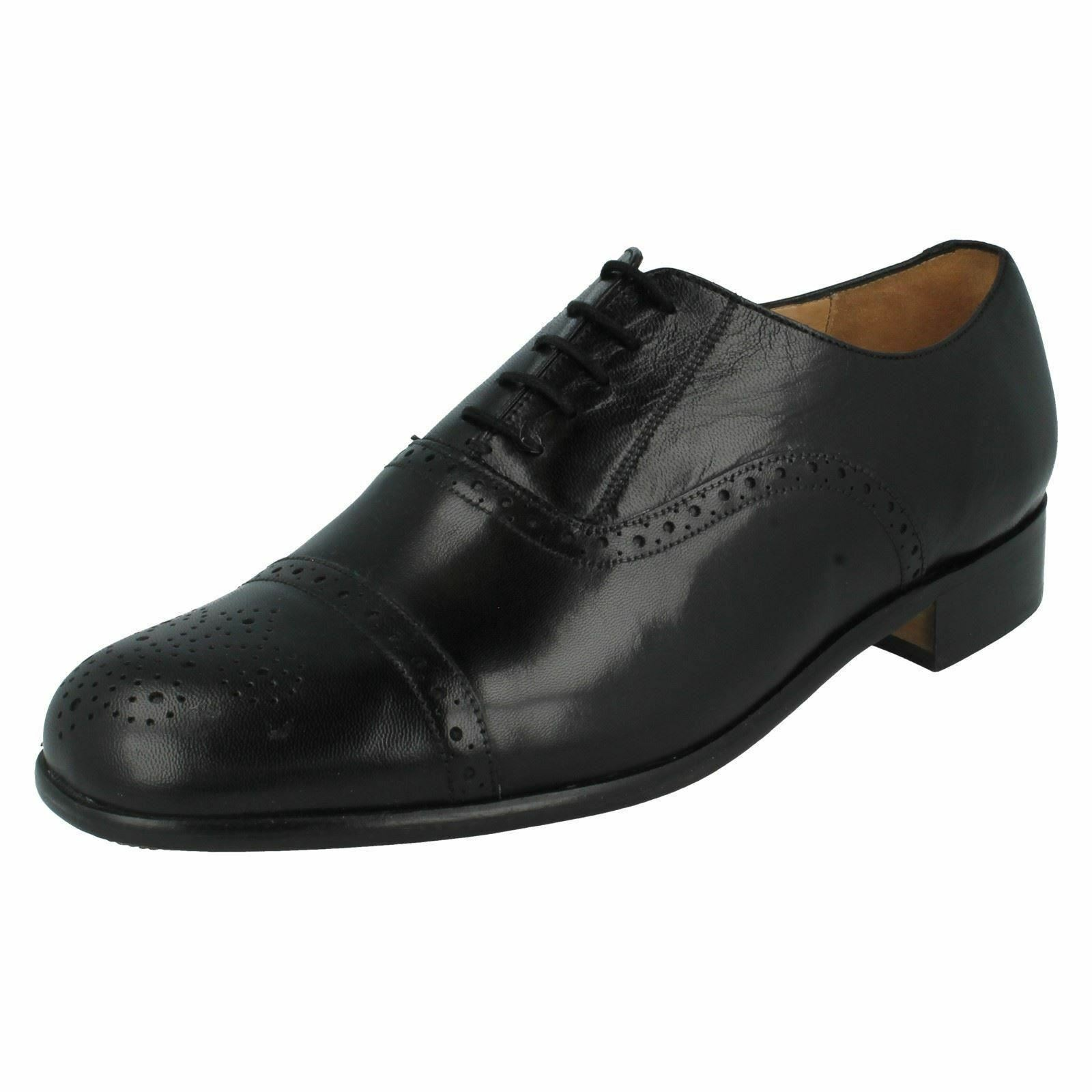 Mens grensons negro leather oxford lace up zapatos st pancras G FIT