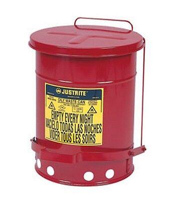 Abile Justrite 09100 6-gallon Oily Waste Can For General Use Tecniche Moderne