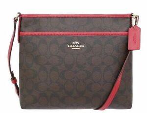 bolso Crossbody Messenger Nuevo Handbag y Red File Brown F29210 auténtico Purse 192643035225 Coach RYxxUw6qE