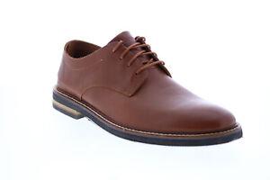 Bostonian Dezmin Plain 26144522 Mens Brown Leather Plain Toe Oxfords Shoes 10.5
