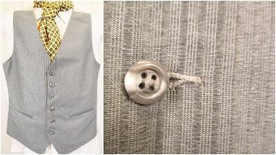 Franco 40r-vintage Anni'70 A Righe Grigio Da Uomo Smart Gilet Suit Gilet Mod Retro-u466-mostra Il Titolo Originale Bello E Affascinante