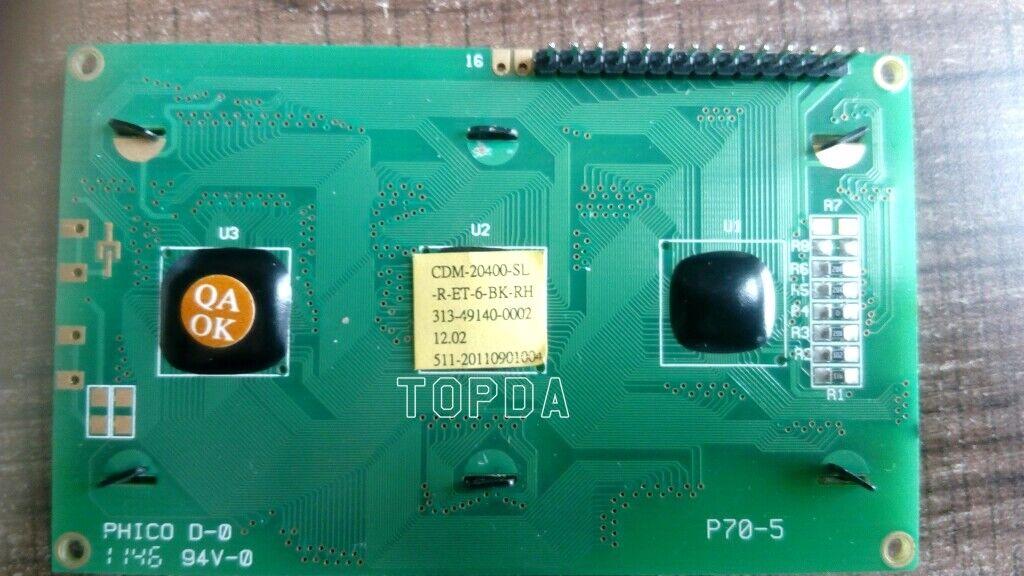 1pc CDM-20400-SL-R-ET-6-BK-RH CDM-20400-SL P70-5 PHICO D-0 94V-0 LCD display