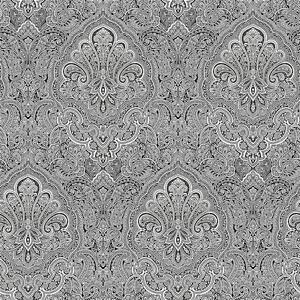 Image Is Loading BW28703 Shades Damask Paisley Black White Galerie Wallpaper
