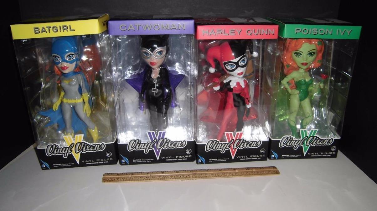 9  Funko Vinyl Vixens Set of 4 - Quinn, Catwoman, Poison Ivy,Batgirl-Vinyl Sugar