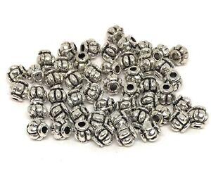 antiqued-silver-Tibetan-style-4mm-lantern-spacer-beads