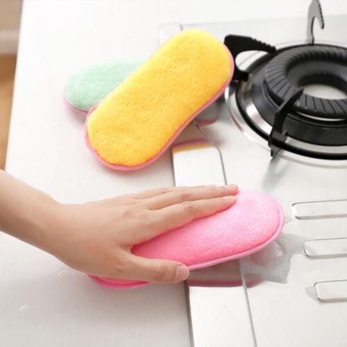 useful inclinada Esponja mumins Paño de Limpieza de Uso Olla Plato herramienta de limpieza de cocina 2 un